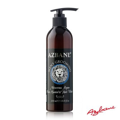 Azbane Face, Beard & Hair Wash - Moroccan Argan 250 ml
