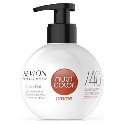 Revlon Nutri Color Creme 740 Light Copper 270ml Demo (Slightly Smudgy)